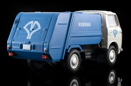 Tomica-Limited-Vintage-Neo-Mazda-E2000-cleaning-truck-Blanc-bleu-009