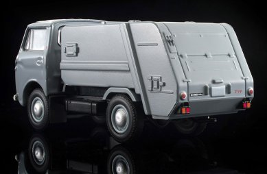 Tomica-Limited-Vintage-Neo-Mazda-E2000-cleaning-truck-Gris-009