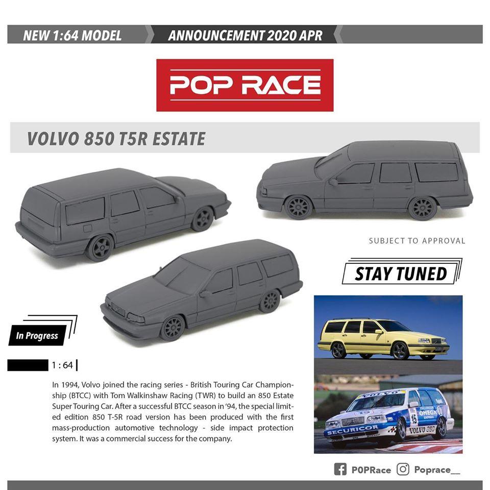 Pop Race Dévoile Le Prototype D'un Volvo 850 T5R Estate