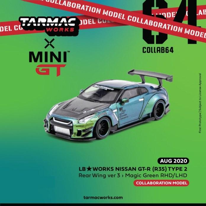 Tarmac-Works-Mini-GT-LB-WORKS-Nissan-GT-R-R35-Type-2-Rear-Wing-ver-3-Magic-Green-RHD