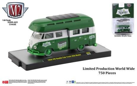 M2-Machines-Coca-Cola-release-1959-Volkswagen-Double-Cab-Truck-USA-Model-Sprite-Chase-Van