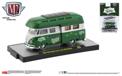 M2-Machines-Coca-Cola-release-1959-Volkswagen-Double-Cab-Truck-USA-Model-Sprite