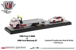 M2-Machines-Coca-Cola-Auto-Haulers-1990-Ford-C-8000-1990-Ford-Mustang-GT-Coca-Cola-Super-Chase