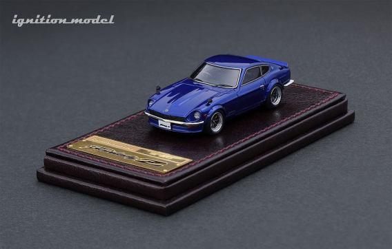 Ignition-Model-Nissan-Fairlady-Z-S30-bleu-001