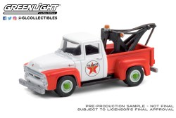 GreenLight-Collectibles-Running-on-Empty-11-1956-Ford-F-100-Tow-Truck-Texaco-Filing-Station