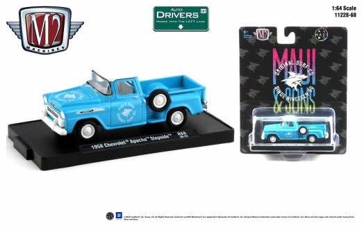 M2-Machines-Drivers-Release-68-1958-Chevrolet-Apache-Step-Side-Maui-and-Sons-Original-Surf-Co