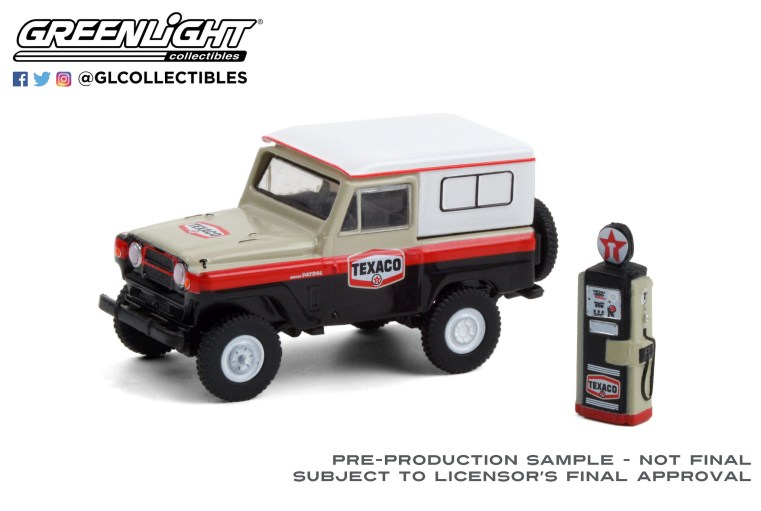 GreenLight-Collectibles-The-Hobby-Shop-Series-10-1967-Nissan-Patrol-Texaco