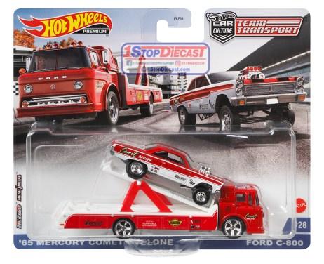 Hot-Wheels-Car-Culture-Team-Transport-Lot-K-65-Mercury-Comet-Cyclone-GasserFord-C-800