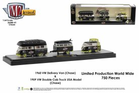 M2-Machines-Auto-Haulers-release-41-1959-Volkswagen-Double-Cab-Camper-1960-Volkswagen-Shorty-Delivery-Van-Maui-and-Sons-Chase