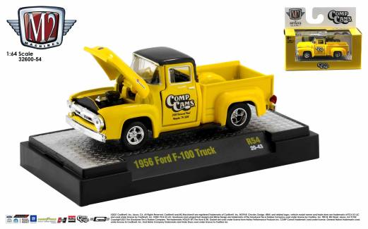 M2 Machines-Auto-Trucks-Detroit-Muscle-Release-54-1956-Ford-F-100-Truck-Comp-Cams