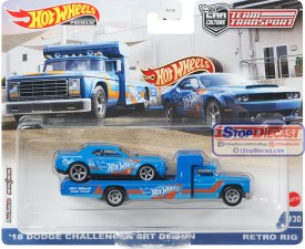 Hot-Wheels-Car-Culture-Team-Transport-Release-L-Retro-Rig-18-Dodge-Challenger-SRT-Demon