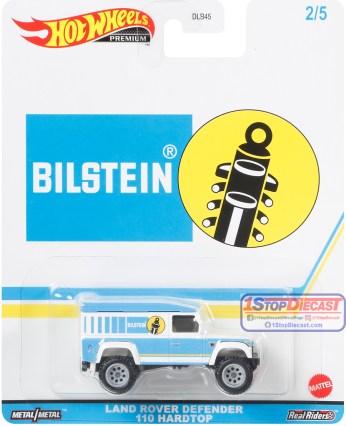 Hot-Wheels-Premium-Pop-Culture-Speed-Shop-Garage-Land-Rover-Defender-110-Hard-Top-Bilstein