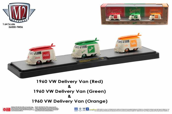 M2-Machines-Coca-Cola-Auto-Haulers-VW-Delivery-Van-bundle