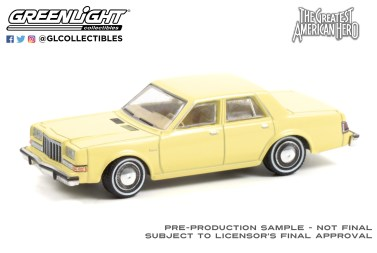 GreenLight-Collectibles-Hollywood-Series-32-1981-Dodge-Diplomat-The-Greatest-American-Hero