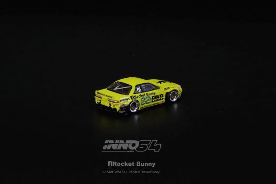 Inno64-Nissan-Silvia-S13-V2-Rocket-Bunny-Pandem-Light-Yellow-003