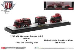 M2-Machines-Coca-Cola-Auto-Haulers-1960-VW-Microbus-Deluxe-USA-Model-1960-VW-Delivery-Van-Chase