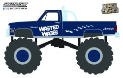 GreenLight-Collectibles-Kings-of-Crunch-Series-10-Wasted-Wages-1987-Chevy-Silverado-Monster-Truck