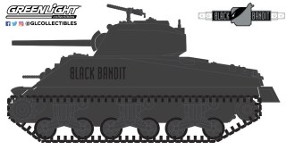 GreenLight-Collectibles-Black-Bandit-26-1944-M4-Sherman-Tank