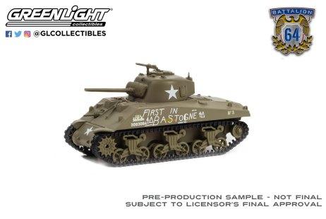 GreenLight-Collectibles-Battalion-64-Series-1-1941-M4-Sherman-Tank-US-Army-World-War-II