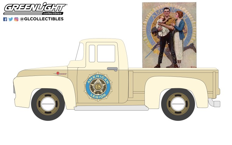GreenLight-Collectibles-Norman-Rockwell-Series-4-1956-Ford-F-100
