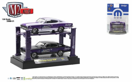M2-Machines-Auto-Lifts-release-21-1966-Dodge-Charger-HEMI