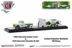 M2-Machines-Coca-Cola-Auto-Haulers-Release-TW13-1958-Chevrolet-Cameo-Truck-1970-Chevrolet-Chevelle-SS-454-Chase