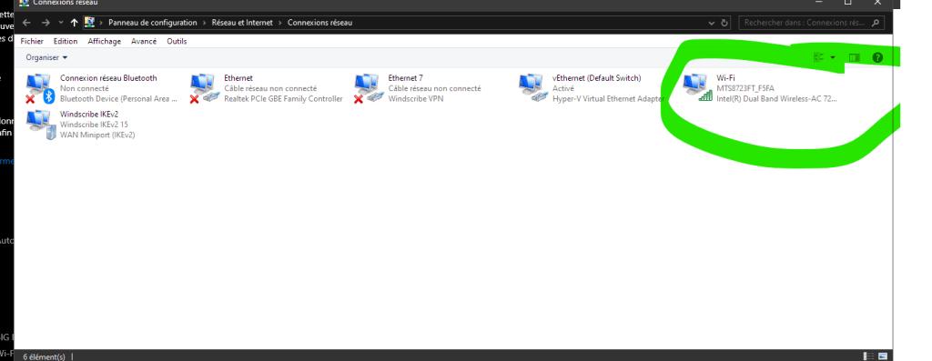 Comment trouver le mot de passe wifi sur Windows 10