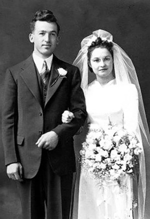 Norva and Robert Crosby Wedding Photo