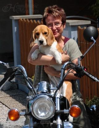 Biker Dana mit Frauchen, 2014
