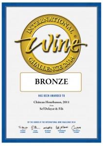 Hourbanon médoc 2011 médaille bronze IWC