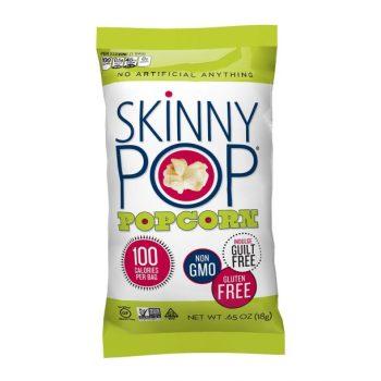 supercharged vegan snacks - skiny pop popcorn