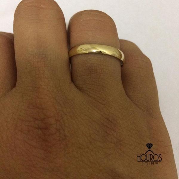 Par de Alianças Ouro 18k Casamento 6mm 6g Reta Polida