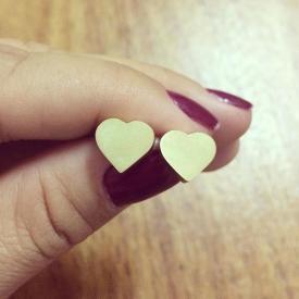 Brinco de Coração de Ouro 18k