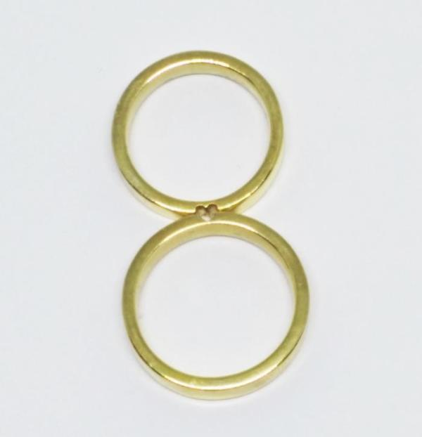 Par de Alianças Coração Lateral Polida Ouro 18k