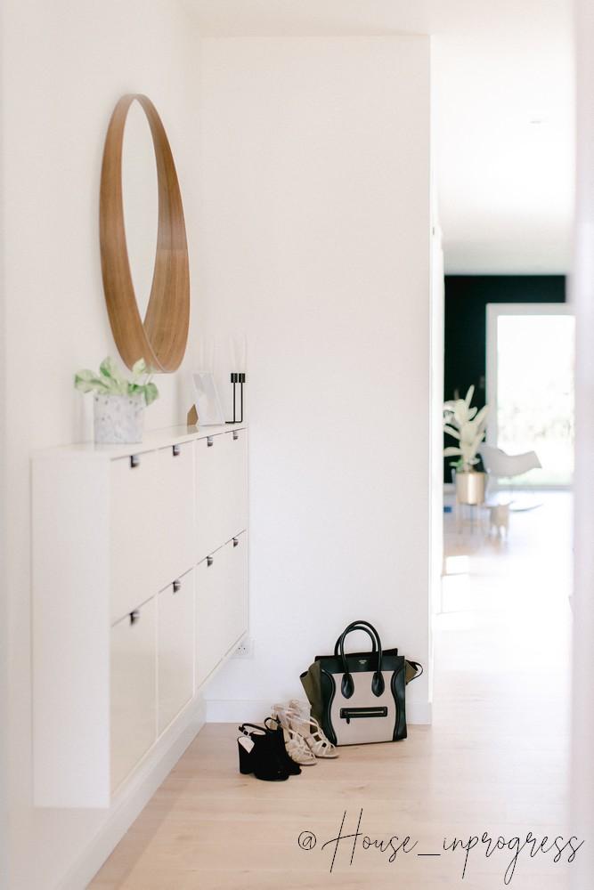 Meuble à Chaussures Blanc Suspendu House In Progress