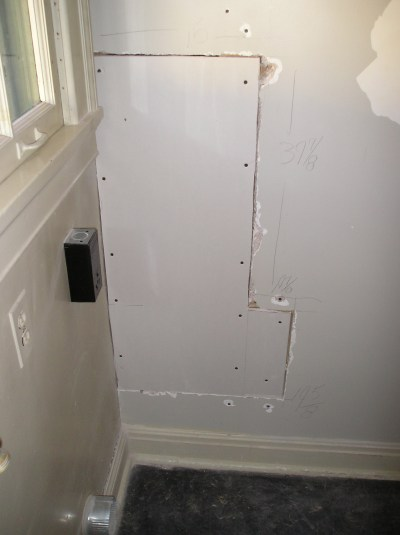 Drywall Repair Repairing Large Holes With The Stud To