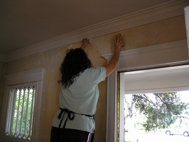How To Remove Wallpaper Glue The Practical House