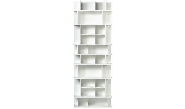 bibliotheque blanche design panorama