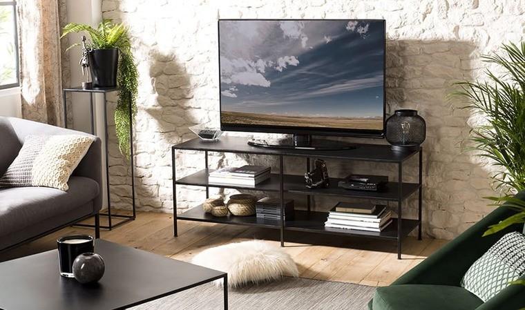 meuble tv en metal noir berlioz house and garden