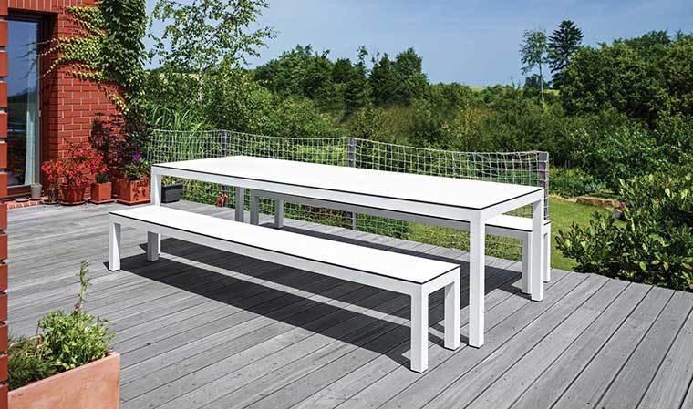 table de jardin de luxe blanche leuven