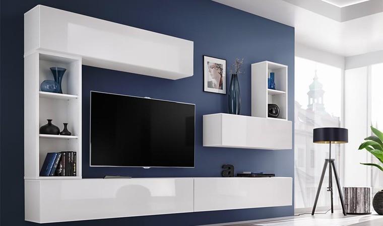 ensemble meuble tv mural blanc brescia i