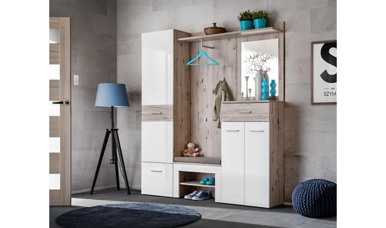 lot de meuble de rangement blanc ernesto iii
