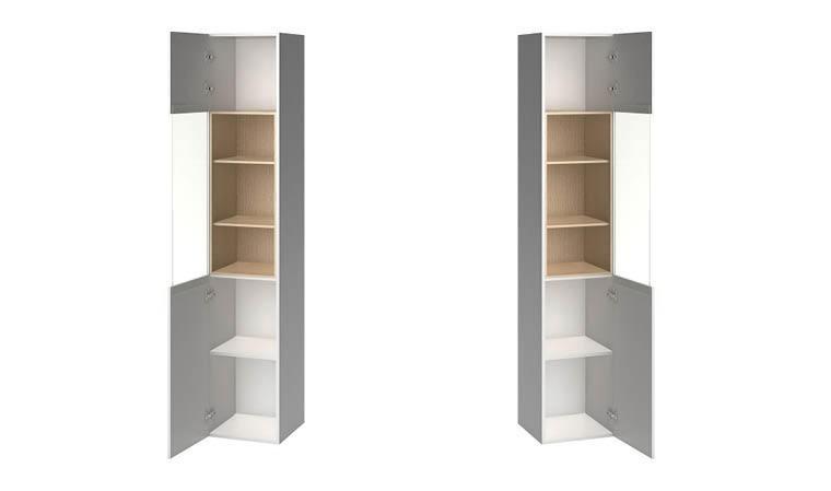 vaisselier design porte vitree couleur blanc et chene 4you