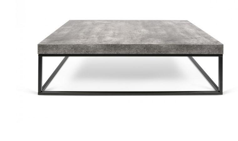 table basse acier noir et plateau beton petra 120