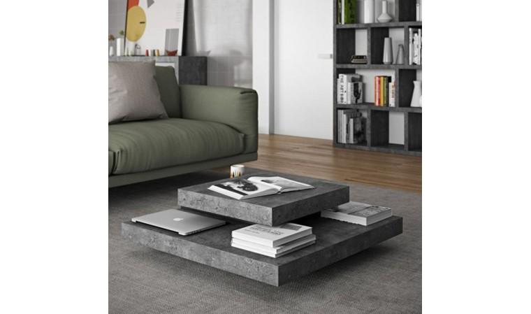 table basse slate beton