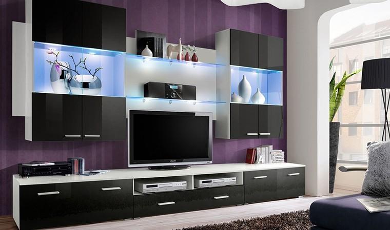 ensemble de meubles de salon modernes noir wing