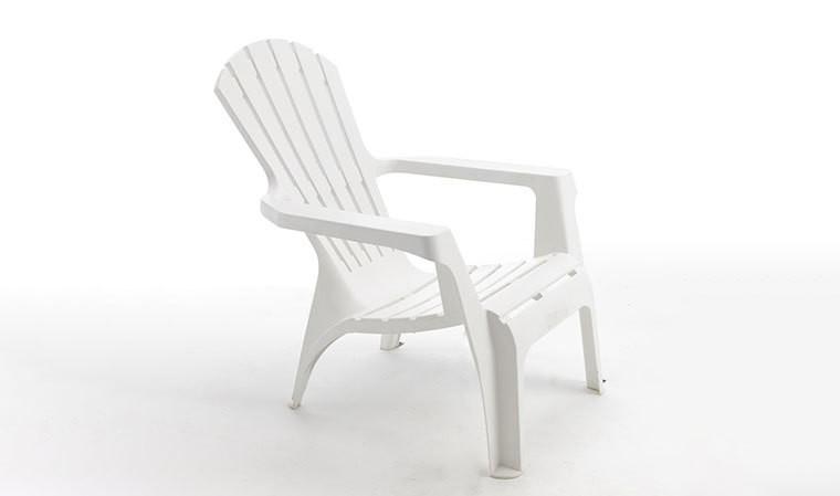 fauteuil de jardin blanc design adirondack