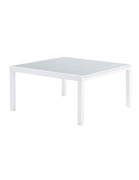 ensemble table et 8 chaises de jardin alu blanc whitestar