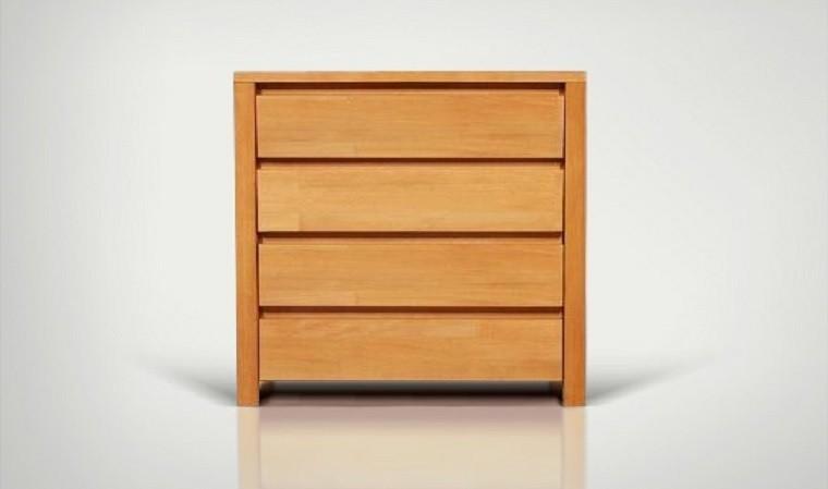commode en bois massif 4 tiroirs vinci