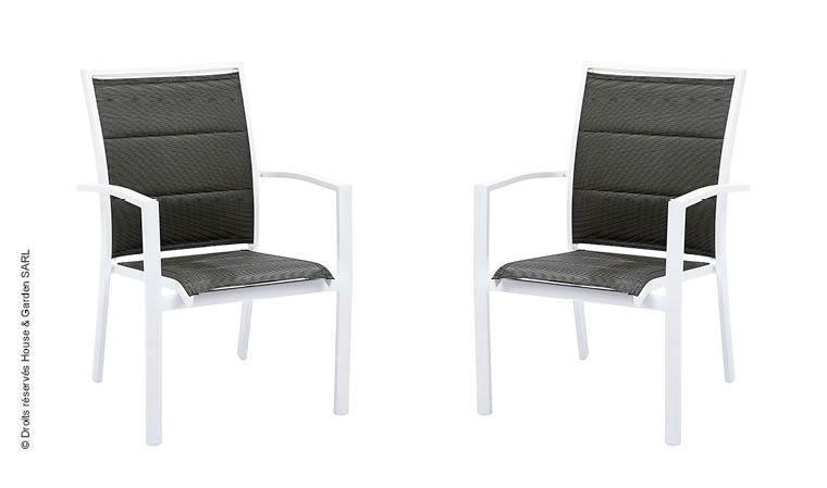 fauteuil de jardin design blanc gris perle modulo